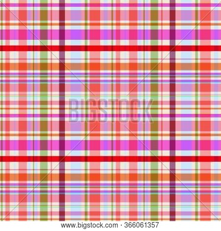 Charming Seamless Checkered Pattern, The Intersection Of Bright Stripes, Warm Mauve Color Scheme. Gr