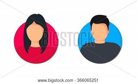 Male And Female User Profile. Avatar Man And Woman. Gender Iconsunknown Or Anonymous Person. Male An