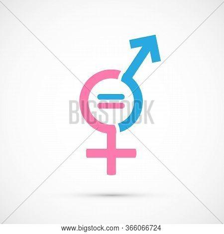 Gender Equality Logo, Icon Vector Art Illustration.