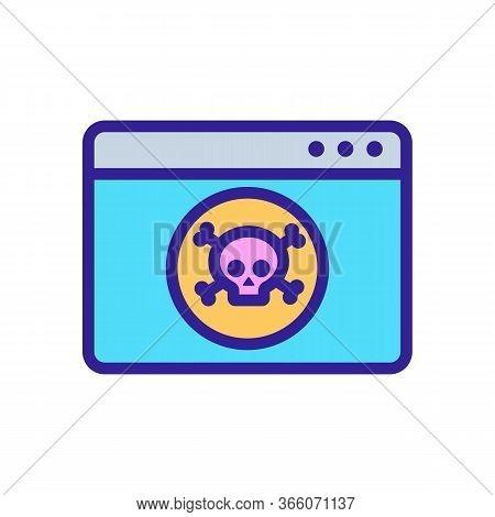 Hacking Information Folder Hackers Icon Vector. Hacking Information Folder Hackers Sign. Color Symbo