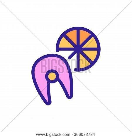 Wooden Fish Filled Barrel Icon Vector. Wooden Fish Filled Barrel Sign. Color Symbol Illustration