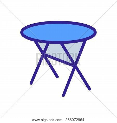 Cross Legged Round Table Icon Vector. Cross Legged Round Table Sign. Color Symbol Illustration