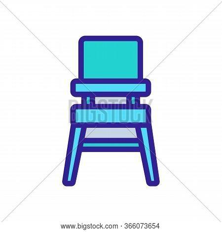 Transformer Chair For Feeding Icon Vector. Transformer Chair For Feeding Sign. Color Symbol Illustra