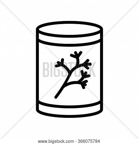 Can Of Dill Icon Vector. Can Of Dill Sign. Isolated Contour Symbol Illustration