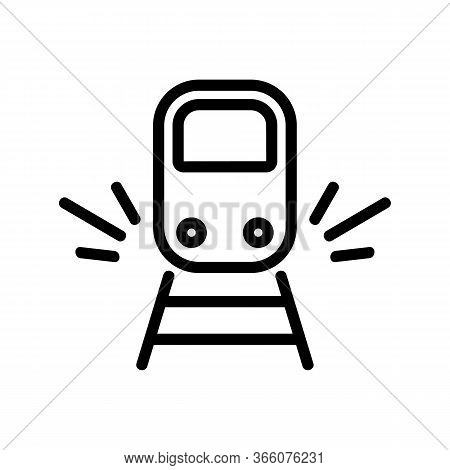 Sound Of Approaching Train Icon Vector. Sound Of Approaching Train Sign. Isolated Contour Symbol Ill