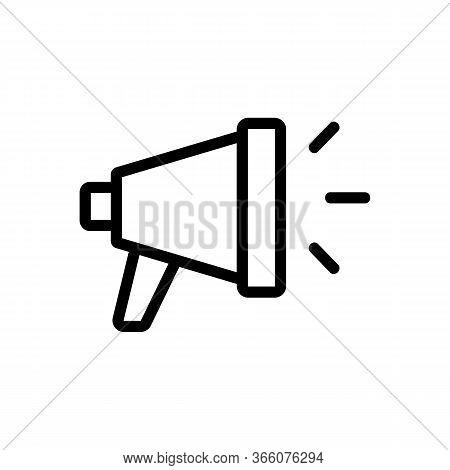 Loudspeaker Sound Icon Vector. Loudspeaker Sound Sign. Isolated Contour Symbol Illustration