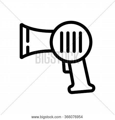 Professional Hair Dryer Hub Icon Vector. Professional Hair Dryer Hub Sign. Isolated Contour Symbol I