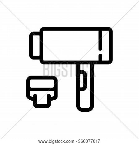 Dryer With Removable Extension Icon Vector. Dryer With Removable Extension Sign. Isolated Contour Sy
