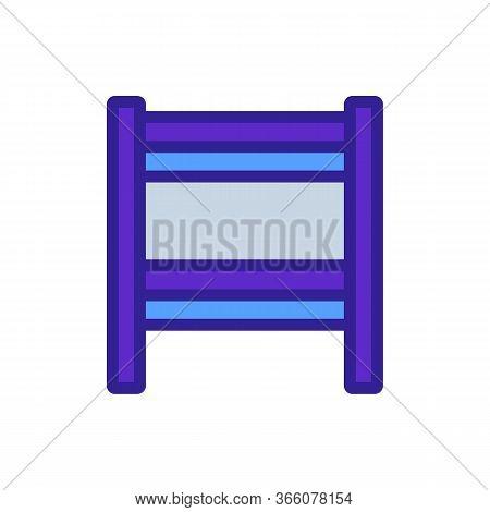 Slit Heated Towel Rail Icon Vector. Slit Heated Towel Rail Sign. Color Symbol Illustration