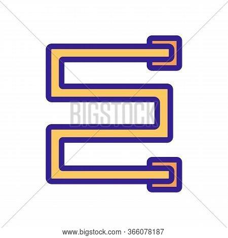 Right Angle Heated Towel Rail Icon Vector. Right Angle Heated Towel Rail Sign. Color Symbol Illustra