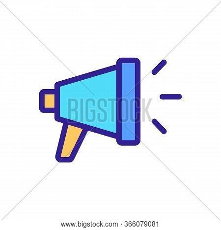 Loudspeaker Sound Icon Vector. Loudspeaker Sound Sign. Color Symbol Illustration