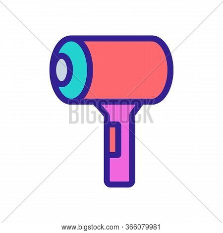 Compact Roomy Hairdryer In Bag Icon Vector. Compact Roomy Hairdryer In Bag Sign. Color Symbol Illust