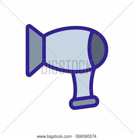 Compact Cylindrical Hair Dryer Icon Vector. Compact Cylindrical Hair Dryer Sign. Color Symbol Illust
