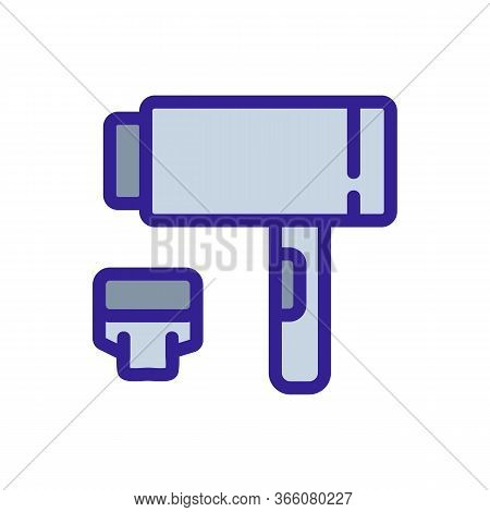 Dryer With Removable Extension Icon Vector. Dryer With Removable Extension Sign. Color Symbol Illust