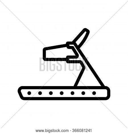 Treadmill With Holders Icon Vector. Treadmill With Holders Sign. Isolated Contour Symbol Illustratio