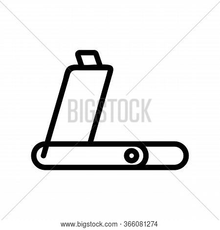 Functional Jogging Machines For Effective Workouts Icon Vector. Functional Jogging Machines For Effe