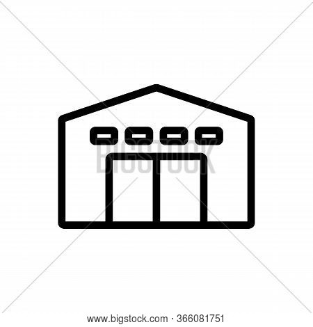 Service Garage With Alarm Icon Vector. Service Garage With Alarm Sign. Isolated Contour Symbol Illus