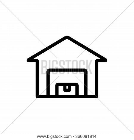 Home Barn Icon Vector. Home Barn Sign. Isolated Contour Symbol Illustration