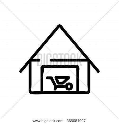 Utility Shed Icon Vector. Utility Shed Sign. Isolated Contour Symbol Illustration