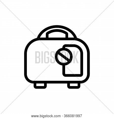 Gasoline Portable Generators Icon Vector. Gasoline Portable Generators Sign. Isolated Contour Symbol
