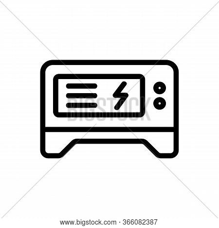 Stable Electric Generator Icon Vector. Stable Electric Generator Sign. Isolated Contour Symbol Illus