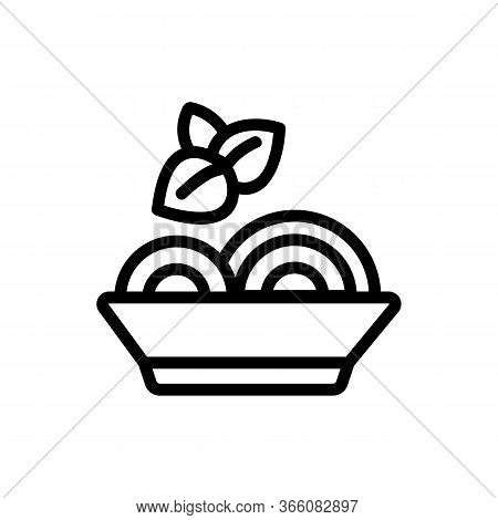 Oregano Seasoning In Bowl With Food Icon Vector. Oregano Seasoning In Bowl With Food Sign. Isolated