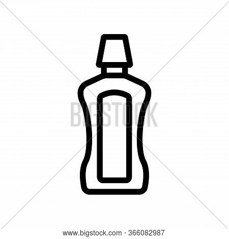 Usual Kind Of Bottle Of Mouthwash Icon Vector. Usual Kind Of Bottle Of Mouthwash Sign. Isolated Cont