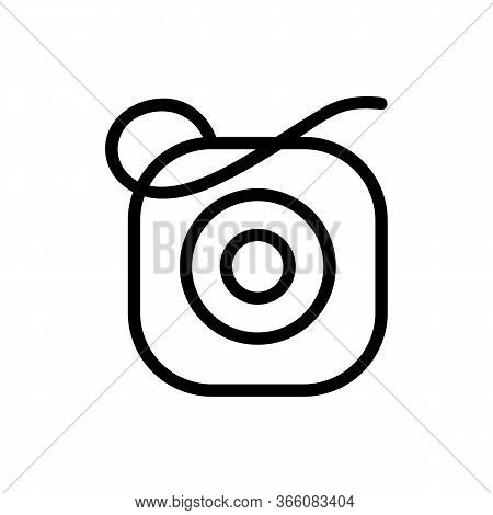 Square Dental Floss Device Icon Vector. Square Dental Floss Device Sign. Isolated Contour Symbol Ill
