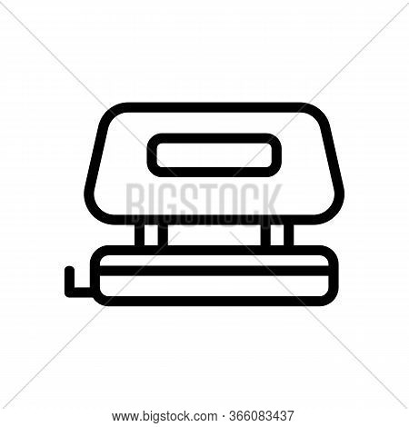Office Punch With Convenient Holder Icon Vector. Office Punch With Convenient Holder Sign. Isolated