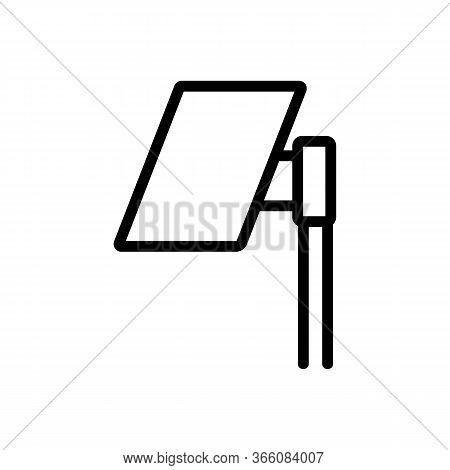 Hdtv Flat Outdoor Antenna Icon Vector. Hdtv Flat Outdoor Antenna Sign. Isolated Contour Symbol Illus