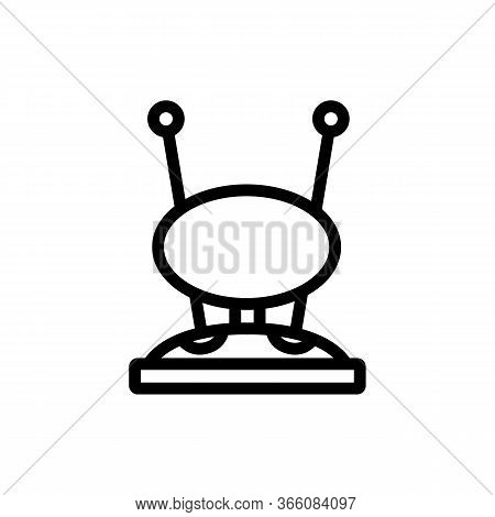 Round Receiver Hdtv Antenna Icon Vector. Round Receiver Hdtv Antenna Sign. Isolated Contour Symbol I