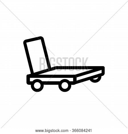 Overall Platform Hand Truck Icon Vector. Overall Platform Hand Truck Sign. Isolated Contour Symbol I