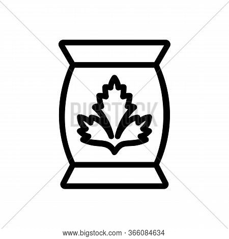 Can Of Coriander Icon Vector. Can Of Coriander Sign. Isolated Contour Symbol Illustration