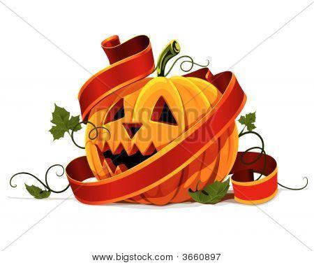 Vector Halloween Pumpkin Vegetable Fruit Isolated