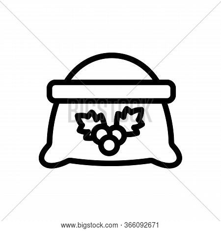 Sack Of Hawthorn Icon Vector. Sack Of Hawthorn Sign. Isolated Contour Symbol Illustration