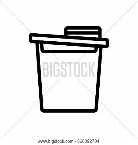 Food Cereal Storage Container Icon Vector. Food Cereal Storage Container Sign. Isolated Contour Symb