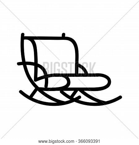 Comfortable Rocking Chair Icon Vector. Comfortable Rocking Chair Sign. Isolated Contour Symbol Illus