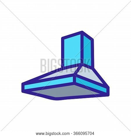 Built-in Pyramidal Overall Hood Icon Vector. Built-in Pyramidal Overall Hood Sign. Color Symbol Illu