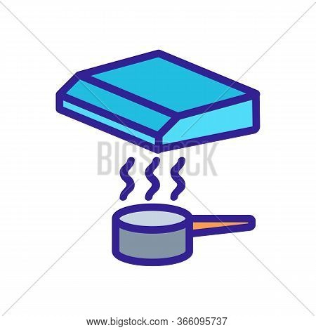 Boiling Saucepan Under Hood Icon Vector. Boiling Saucepan Under Hood Sign. Color Symbol Illustration