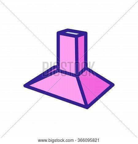 Pyramid-shaped Cooker Hood Icon Vector. Pyramid-shaped Cooker Hood Sign. Color Symbol Illustration