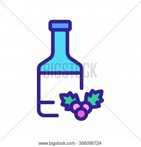 Bottle Of Hawthorn Juice Icon Vector. Bottle Of Hawthorn Juice Sign. Color Symbol Illustration