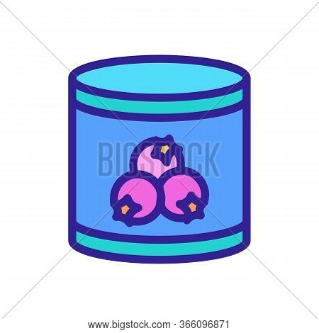 Tin Can Of Hawthorn Icon Vector. Tin Can Of Hawthorn Sign. Color Symbol Illustration