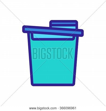 Food Cereal Storage Container Icon Vector. Food Cereal Storage Container Sign. Color Symbol Illustra