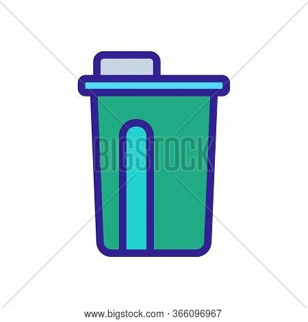 Lunch Glass Bottle Icon Vector. Lunch Glass Bottle Sign. Color Symbol Illustration