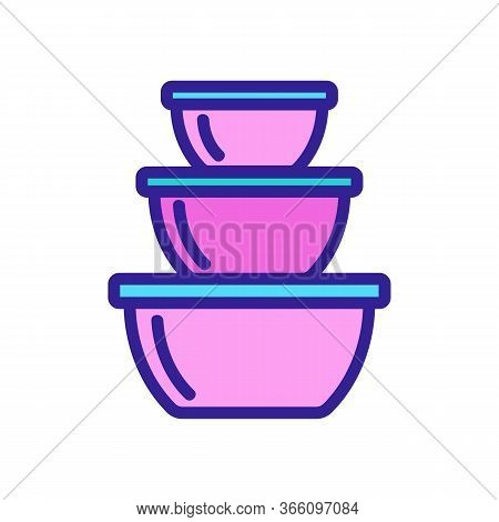 Food Storage Containers In Different Sizes Icon Vector. Food Storage Containers In Different Sizes S