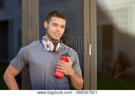 Sports Training Young Latin Man Daydreaming Day Dreaming Runner Copyspace Copy Space Running Fitness