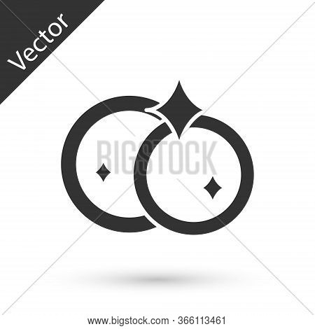 Grey Washing Dishes Icon Isolated On White Background. Cleaning Dishes Icon. Dishwasher Sign. Clean