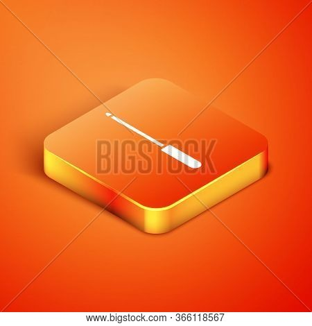 Isometric Knife Sharpener Icon Isolated On Orange Background. Vector