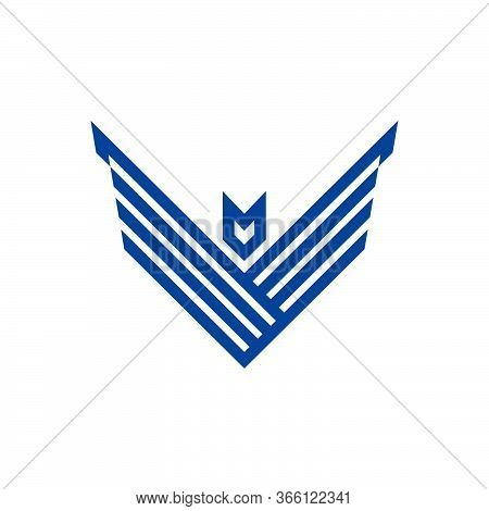 Letter V Geometric Hawk Logo Template  Eps 10 Ready To Use