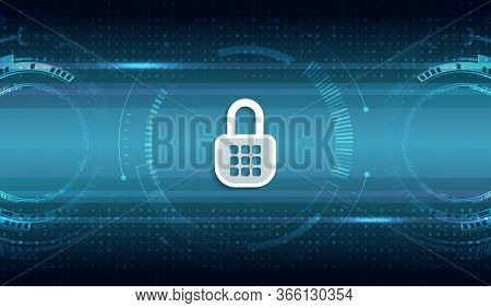 Cyber Attack Protection Privacy Concept. Protection From Virus Attack. Global Antivirus Secure Syste